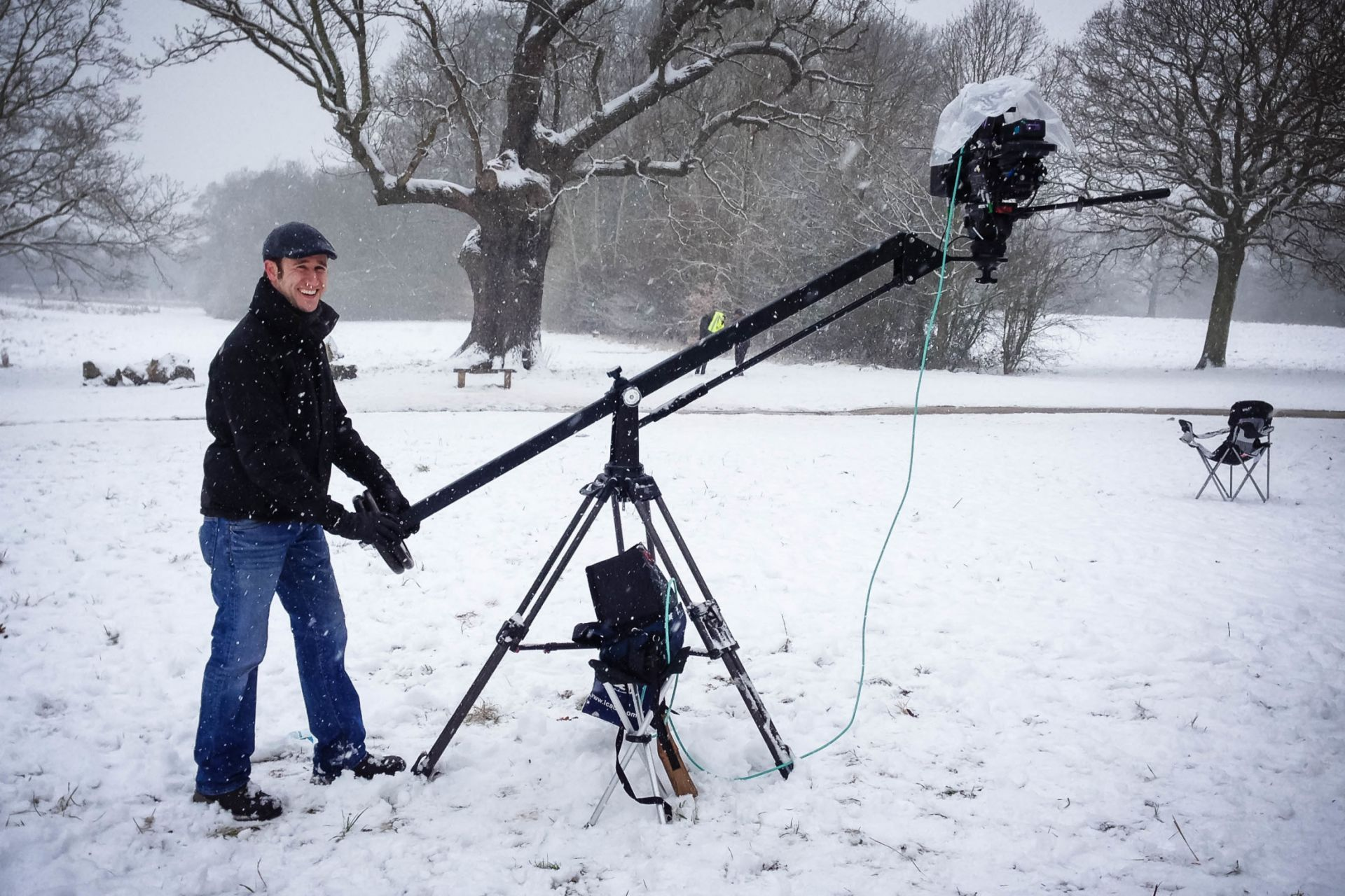 Cameraman with Jib Camera