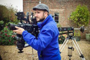 Cameraman with jib arm
