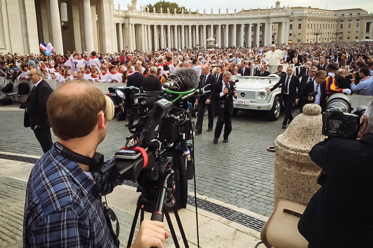 Cameraman with Pope