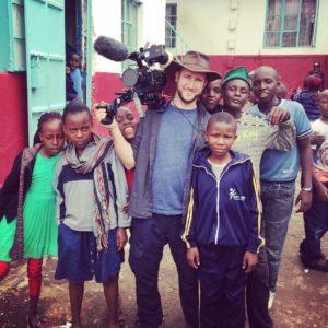 Cameraman with Children